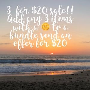 Mid-summer sale! 3 for $20